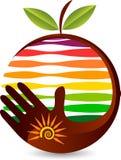 Logotipo do cuidado do fruto ilustração royalty free