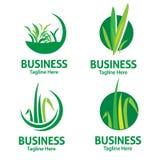 Logotipo do cuidado do gramado ilustração royalty free