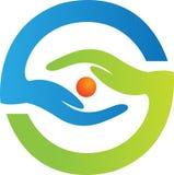 Logotipo do cuidado do olho ilustração do vetor
