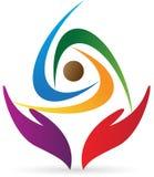 Logotipo do cuidado dos povos Imagem de Stock