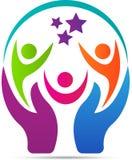 Logotipo do cuidado dos povos Fotografia de Stock