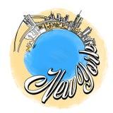 Logotipo do curso de New York City Fotos de Stock