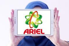 Logotipo do detergente para a roupa de Ariel Fotografia de Stock