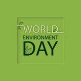 Logotipo do dia de ambiente de mundo em um fundo verde ilustração do vetor
