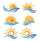 Logotipo do divertimento de Sun Foto de Stock Royalty Free
