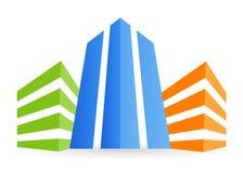 Logotipo do edifício Fotografia de Stock Royalty Free