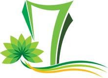 Logotipo do edifício da flor ilustração royalty free
