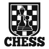Logotipo do emblema da xadrez, estilo simples ilustração stock