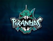 Logotipo do emblema das piranhas para a equipe de esportes Imagem de Stock Royalty Free