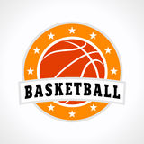 Logotipo do emblema do basquetebol Foto de Stock