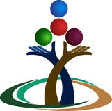 Logotipo do equilíbrio das mãos ilustração do vetor