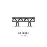 Logotipo do esboço da ponte Foto de Stock