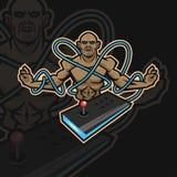 Logotipo do esporte da monge e ilustração do vetor