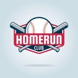 Logotipo do esporte do crachá do basebol ilustração stock