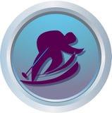 Logotipo do esqui alpino Imagens de Stock