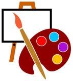 Logotipo do estúdio do artista ilustração do vetor