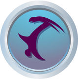 Logotipo do estilo livre Imagens de Stock Royalty Free