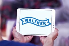 Logotipo do fabricante da arma de Walther Foto de Stock