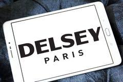 Logotipo do fabricante da bagagem de Delsey Fotografia de Stock Royalty Free