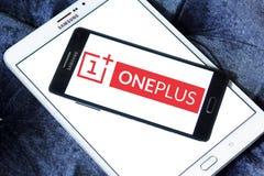 Logotipo do fabricante do smartphone de OnePlus Fotografia de Stock