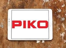 Logotipo do fabricante do trem do modelo de PIKO foto de stock royalty free