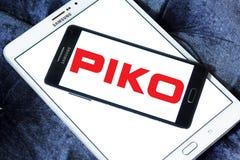 Logotipo do fabricante do trem do modelo de PIKO fotografia de stock royalty free