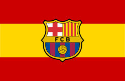 Logotipo do FC Barcelona Fotografia de Stock Royalty Free