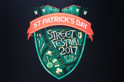 Logotipo do festival da rua do dia do ` s de St Patrick Imagens de Stock