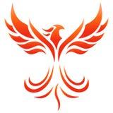 Logotipo do fogo de Phoenix ilustração do vetor