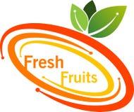 Logotipo do fruto fresco ilustração royalty free