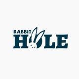 Logotipo do furo de coelho ilustração do vetor
