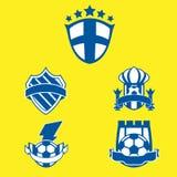 Logotipo 2 do futebol Imagens de Stock Royalty Free