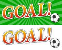 Logotipo do futebol do objetivo ilustração royalty free