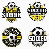 Logotipo do futebol Grupo de projetos do emblema dos esportes Vetor ilustração stock
