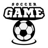 Logotipo do futebol ou do futebol, emblema, crachá Fotografia de Stock Royalty Free