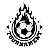 Logotipo do futebol ou do futebol, emblema, crachá Fotos de Stock
