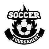 Logotipo do futebol ou do futebol, emblema, crachá Fotografia de Stock