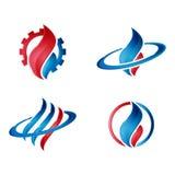 Logotipo do gás e do petróleo moderno Fotografia de Stock