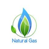 Logotipo do gás natural Imagens de Stock Royalty Free