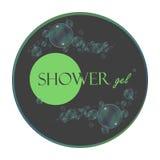 Logotipo do gel do chuveiro, etiqueta do símbolo da marca registrada Vetor Imagem de Stock