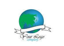 Logotipo do globo do mundo Foto de Stock Royalty Free