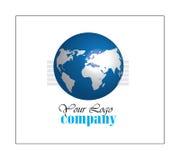 Logotipo do globo do mundo Foto de Stock