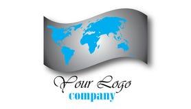 Logotipo do globo do mundo Imagens de Stock