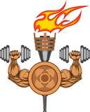 Logotipo do Gym - ilustração do vetor Imagens de Stock Royalty Free