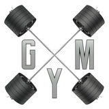 Logotipo do Gym no estilo 3d Foto de Stock Royalty Free