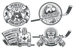 Logotipo do hóquei ilustração royalty free
