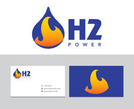 Logotipo do hidrogênio Imagens de Stock Royalty Free