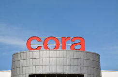 Logotipo do hipermercado de Cora Imagem de Stock Royalty Free