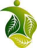 Logotipo do homem da folha ilustração stock