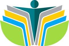 Logotipo do homem do livro de leitura Fotos de Stock